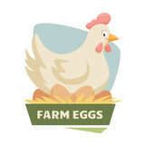 Hen on eggs Royalty Free Stock Image