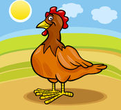 Hen farm animal cartoon illustration Stock Photos