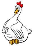 Hen farm animal character cartoon illustration Stock Photo
