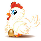 Hen with Golden Egg Royalty Free Stock Photos