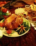The hen-grill with flavouring additives(food-style) Royalty Free Stock Images