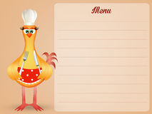 Hen in the kitchen Royalty Free Stock Photos