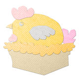 Hen made from tissue papercraft Royalty Free Stock Photos
