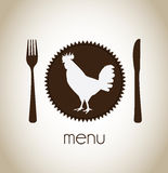 Hen menu Royalty Free Stock Photography