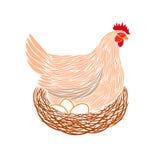 Hen On Nest Immagine Stock Libera da Diritti