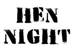 Hen Night typographic stamp. Typographic sign, badge or logo Stock Photo