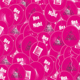 Hen Party Ballons Background. A glowing 3D multi Hen Party ballon background Royalty Free Stock Image