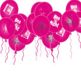 Hen Party Ballons. A glowing 3D multi Hen Party ballons Stock Photos