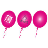 Hen Party Balloons. A glowing 3D multi Hen Party balloons Stock Image