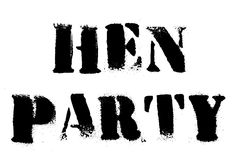 Hen Party typographic stamp. Typographic sign, badge or logo Stock Photography