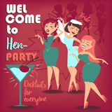 Hen party. Women Royalty Free Stock Photo