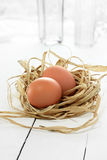 Hen's Eggs Stock Images