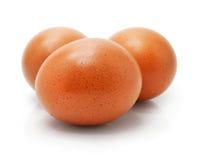Hen's eggs isolated on white Stock Photo