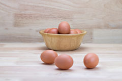 Hen's eggs Stock Photo