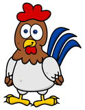 Hen standing smiling Royalty Free Stock Photo