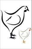 Hen symbol Stock Photo