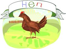 Hen with title Royalty Free Stock Photos