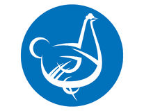 Hen white symbol Royalty Free Stock Images