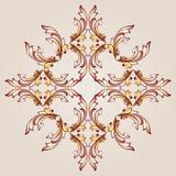 Hena do teste padrão de flor ilustração stock