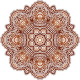 A hena étnica ornamentado colore a mandala do vetor Fotografia de Stock