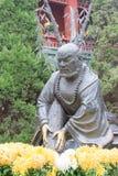HENAN, ΚΊΝΑ - 15 Νοεμβρίου 2015: Άγαλμα LU Zhishen Temp Daxiangguo Στοκ Εικόνες