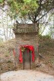 HENAN, CHINA - 29 de octubre de 2015: Tumba de Hua Tuo (140-208) un h famoso Imagenes de archivo