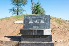 HENAN, CHINA - 27 de octubre de 2015: Tumba de Wang Yun (137-192) un famoso Imagen de archivo