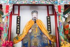 HENAN, CHINA - 30 de outubro de 2015: Estátua de Zhuge Liang em Nanyang Mem imagem de stock royalty free