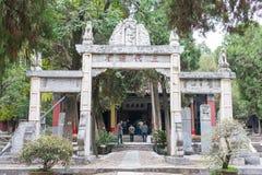 HENAN, CHINA - 30 de outubro de 2015: Templo memorável de Nanyang de Wuhou (Na imagem de stock