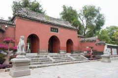 HENAN, CHINA - 30 de outubro de 2015: Templo memorável de Nanyang de Wuhou (Na fotos de stock royalty free