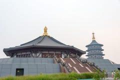 HENAN, CHINA - Jul 07 2015: Sui and Tang Dynasty Luoyang City Na. Tional Heritage Park. a famous historic site in Luoyang, Henan, China royalty free stock photography