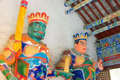 HENAN, CHINA - Nov 04 2015: Statues at Yongtai Temple. a famous. Historic site in Dengfeng, Henan, China Royalty Free Stock Images