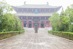 HENAN, CHINA - 17 Nov. 2015: Zhang Xun Temple in Oude Shangqiu royalty-vrije stock foto