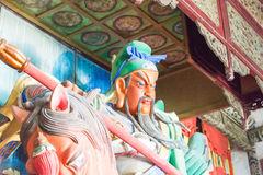 HENAN, CHINA - Oct 27 2015: Statue of Guan Yu at Xuchang Guandi Stock Photography