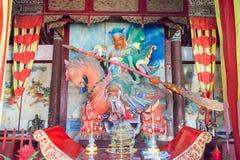 HENAN, CHINA - Oct 27 2015: Statue of Guan Yu at Xuchang Guandi Royalty Free Stock Photos