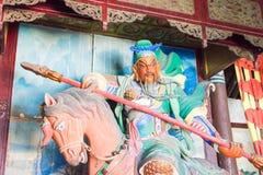 HENAN, CHINA - Oct 27 2015: Statue of Guan Yu at Xuchang Guandi Stock Photos