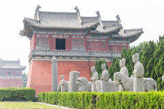HENAN, CHINA - Oct 03 2015: Yongzhao Tomb. The Imperial Tombs in. The Northtern Song Dynasty. a famous historic site in Gongyi, Henan, China Royalty Free Stock Photo