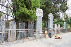 HENAN, CHINA - 29. Oktober 2015: Grab von Hua Tuo (140-208) ein berühmtes h Lizenzfreies Stockbild