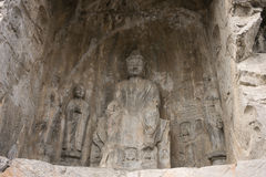 Henan, China`s famous tourist attraction, Longmen Grottoes, Luoyang. The Sui Dynasty, Tang Dynasty, Song Dynasty, several dynasties have carved statues here Royalty Free Stock Photography