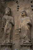 Henan, China`s famous tourist attraction, Longmen Grottoes, Luoyang. The Sui Dynasty, Tang Dynasty, Song Dynasty, several dynasties have carved statues here Stock Photo