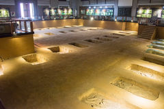 HENAN, CHINE - 26 NOVEMBRE 2014 : Shang Dynasty Royal Cemetery un famo Photos stock