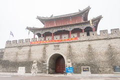 HENAN, CHINE - 17 novembre 2015 : Ville antique de Shangqiu un hist célèbre Photos libres de droits