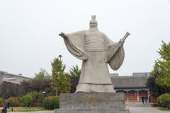 HENAN, CHINE - 26 octobre 2015 : Statue de Cao Cao (155-220) chez Weiwud Photo stock
