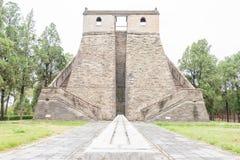 HENAN CHINY, Nov, - 07 2015: Obserwatorium (światowego dziedzictwa miejsce) A Obrazy Royalty Free