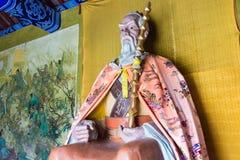 HENAN CHINY, NOV, - 28 2014: Statua Jiang Ziya przy Youlicheng Zdjęcie Royalty Free