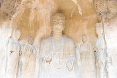 HENAN CHINY, Oct, - 03 2015: Budda statuy przy Gongxian grotami Obraz Royalty Free