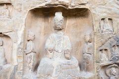HENAN CHINY, Oct, - 03 2015: Budda statuy przy Gongxian grotami Fotografia Royalty Free