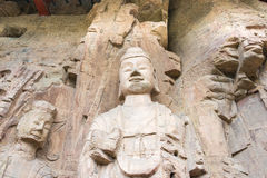 HENAN CHINY, Oct, - 03 2015: Budda statuy przy Gongxian grotami Zdjęcia Stock