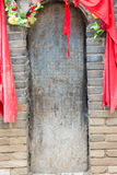 HENAN CHINY, Oct, - 29 2015: Grobowiec Hua Tuo (140-208) sławny h Obraz Stock