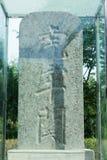 HENAN CHINY, Oct, - 02 2015: Kamienna pastylka przy Hulao przepustką sławny Obraz Stock